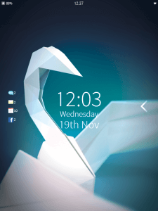 Lock Screen of Sailfish