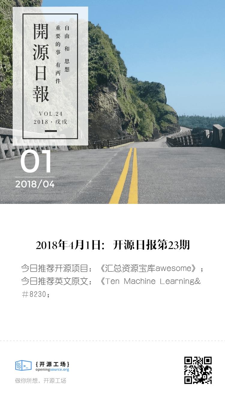 2018年4月1日:开源日报第24期 bigger封面