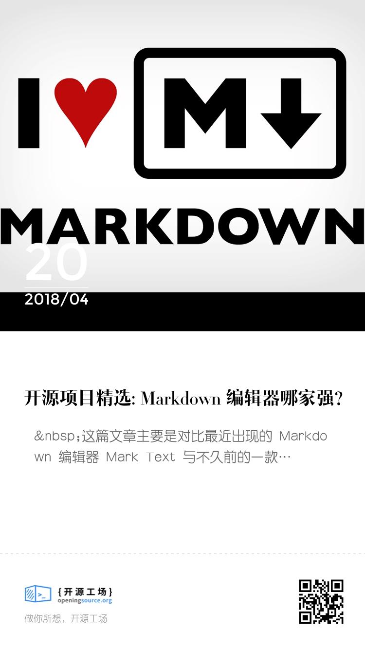 開源項目精選: Markdown 編輯器哪家強? bigger封面