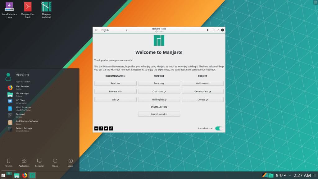 基于 Arch Linux 的易用桌面发行版 Manjaro 发布 18.0 版