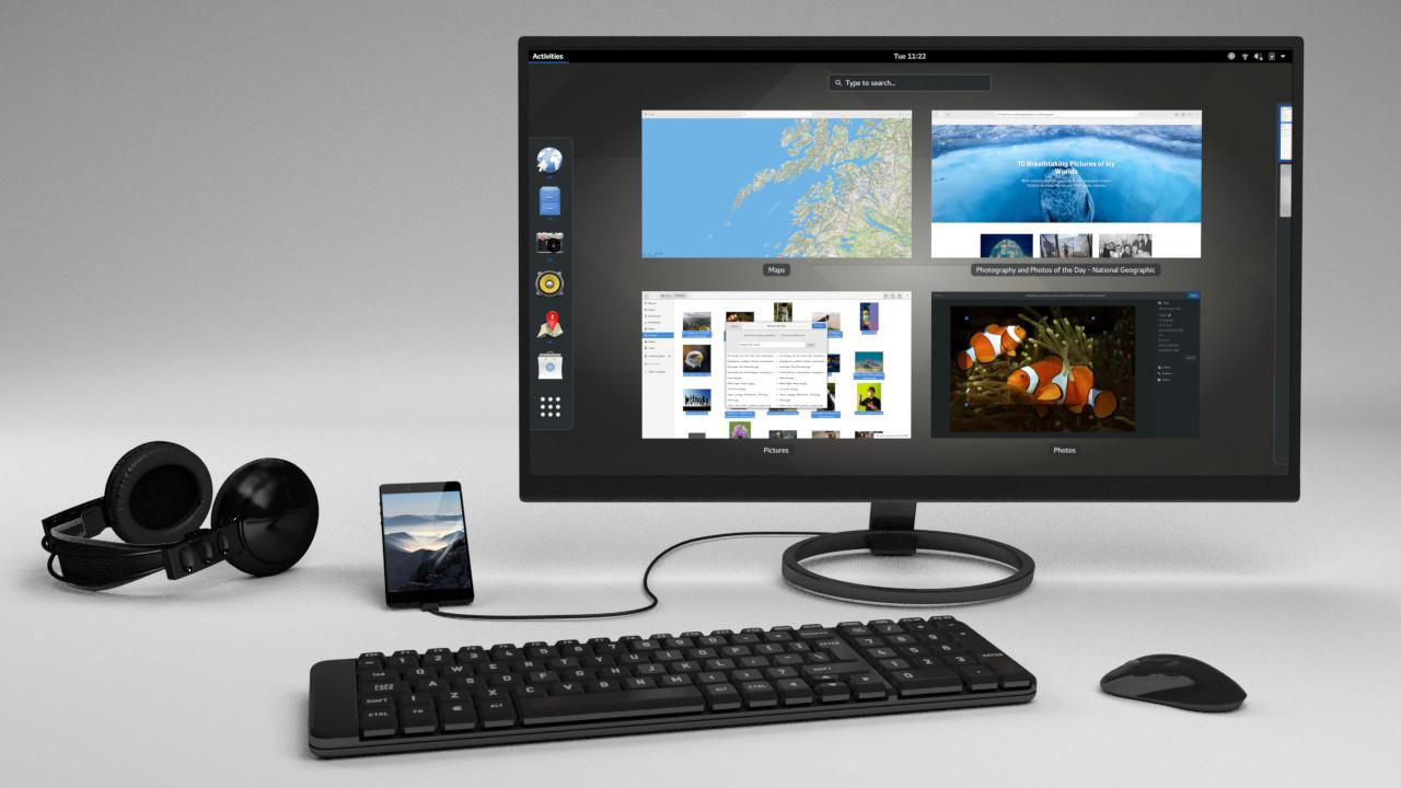 Librem 5:一個基於 PureOS 及 GNOME 的自由手機