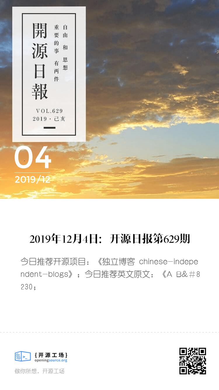 开源日报第629期:《独立博客 chinese-independent-blogs》 bigger封面
