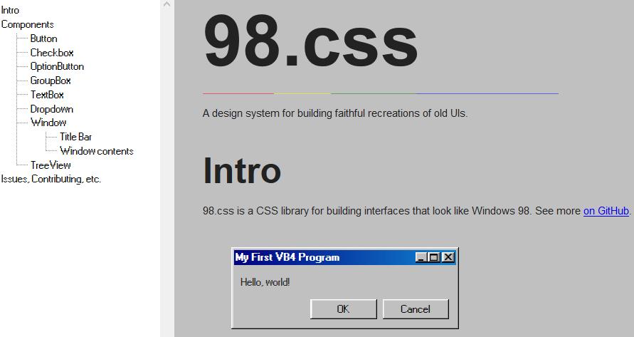 开源日报第761期:《上古版本 98.css》