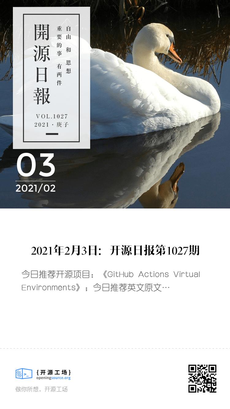 開源日報第1027期:《GitHub Actions Virtual Environments》 bigger封面